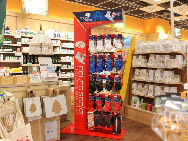 Neuro Socks POS-Display in einem Store